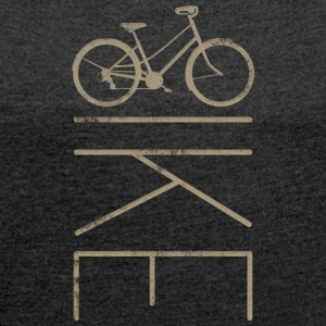 Bike Women's Commuter Bike - Women's T-shirt with rolled up sleeves