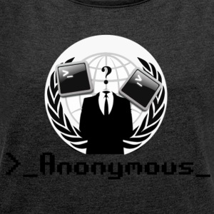 Anonymous - Women's T-shirt with rolled up sleeves