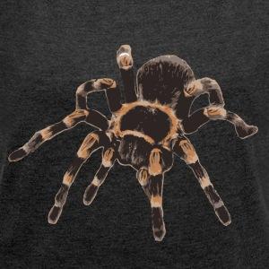 Tarantula Brachypelma smithi - Women's T-shirt with rolled up sleeves