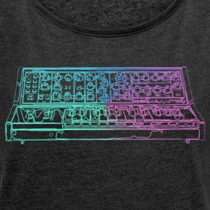 Synthesizer - Women's T-shirt with rolled up sleeves