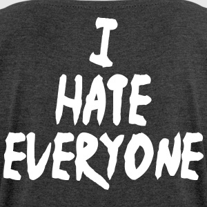 I hate everyone - Women's T-shirt with rolled up sleeves
