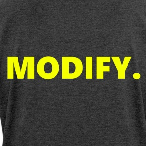 MODIFY. - Women's T-shirt with rolled up sleeves