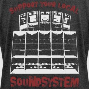 support your local soundsystem - Frauen T-Shirt mit gerollten Ärmeln