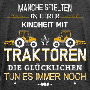 Farmers play Tractor - Women's T-shirt with rolled up sleeves