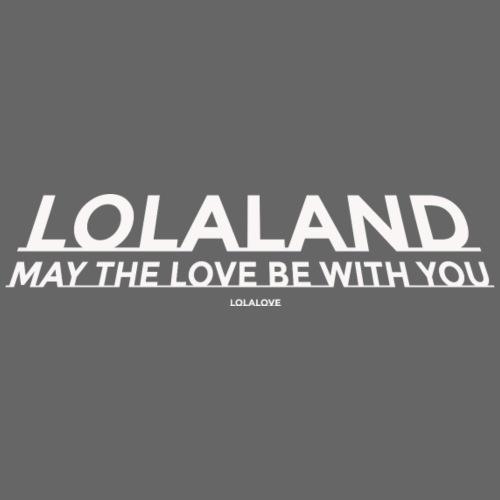 may the love be with you - Frauen T-Shirt mit gerollten Ärmeln