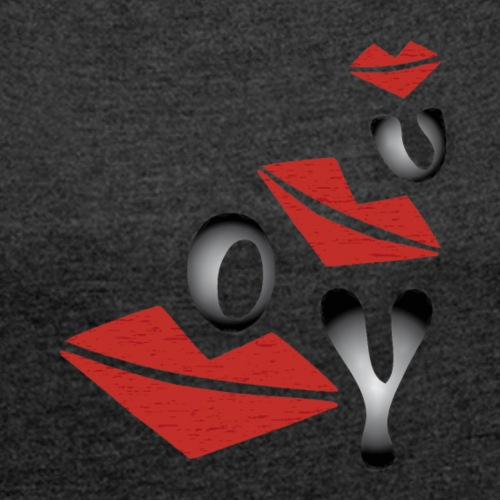 Kußmund - Frauen T-Shirt mit gerollten Ärmeln