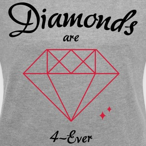 Diamonds are 4-Ever - Frauen T-Shirt mit gerollten Ärmeln