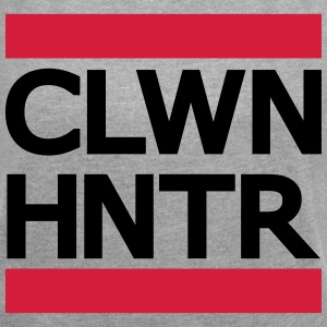 Clown Hunter - Frauen T-Shirt mit gerollten Ärmeln