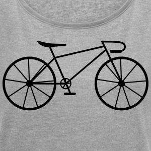 Bike - Women's T-shirt with rolled up sleeves