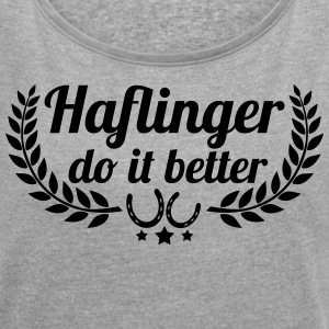 Haflinger - Women's T-shirt with rolled up sleeves