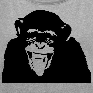 MONKEY - Women's T-shirt with rolled up sleeves