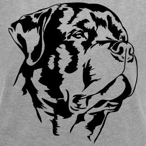 ROTTWEILER - Women's T-shirt with rolled up sleeves