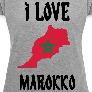 MAROCKO COLLECTION - T-shirt med upprullade ärmar dam