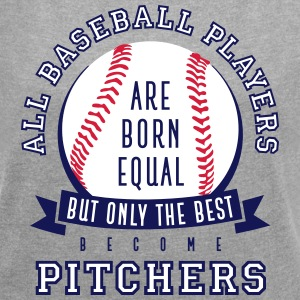 Pitcher are the Best - Frauen T-Shirt mit gerollten Ärmeln