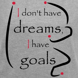 Dreams Goals red black - Women's T-shirt with rolled up sleeves