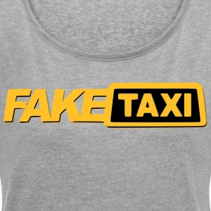 FAKETAXI - Women's T-shirt with rolled up sleeves