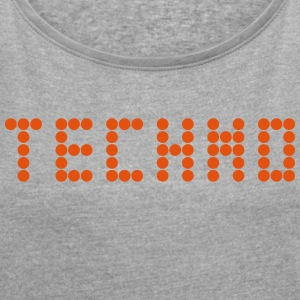 Techno - Women's T-shirt with rolled up sleeves