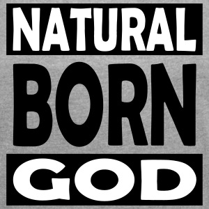 Natural Born God - Frauen T-Shirt mit gerollten Ärmeln