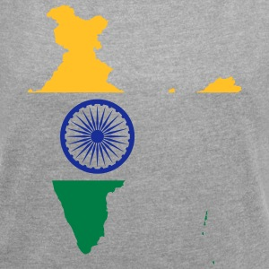 India - Women's T-shirt with rolled up sleeves