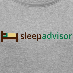SleepAdvisor - Women's T-shirt with rolled up sleeves
