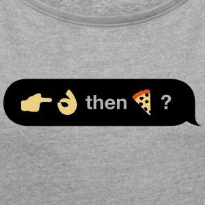 Emoji Conversation (o / w) - Women's T-shirt with rolled up sleeves