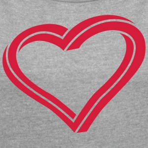 Twisted Heart - Women's T-shirt with rolled up sleeves