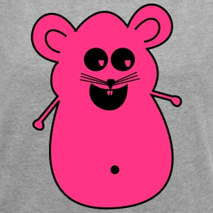 KK mouse pink - Women's T-shirt with rolled up sleeves