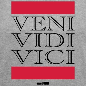 Veni Vidi Vici - Women's T-shirt with rolled up sleeves