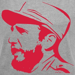Fidel Castro - Women's T-shirt with rolled up sleeves