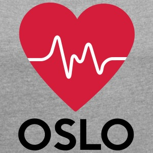 heart Oslo - Women's T-shirt with rolled up sleeves