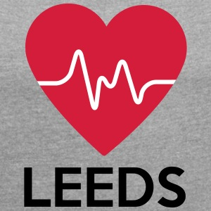 heart Leeds - Women's T-shirt with rolled up sleeves