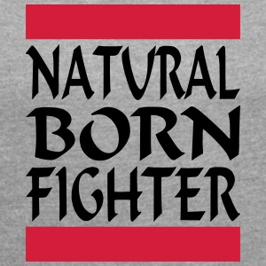 Natural Born Fighter 2 - T-skjorte med rulleermer for kvinner
