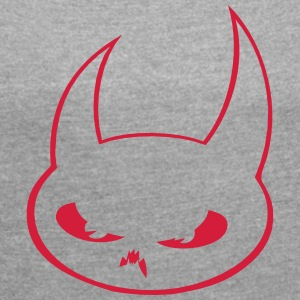 Devil - Women's T-shirt with rolled up sleeves
