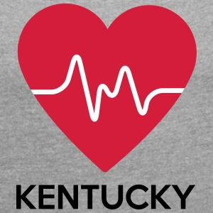 heart Kentucky - Women's T-shirt with rolled up sleeves