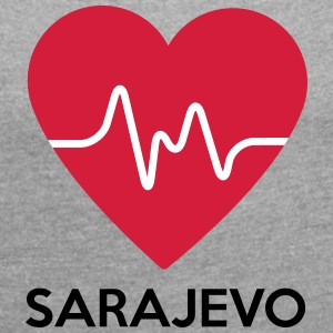 heart Sarajevo - Women's T-shirt with rolled up sleeves
