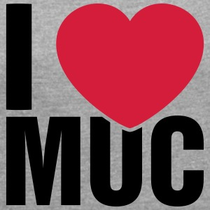 I love Munich! MUC! - Women's T-shirt with rolled up sleeves