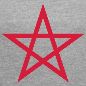 pentagram Wicca - Women's T-shirt with rolled up sleeves