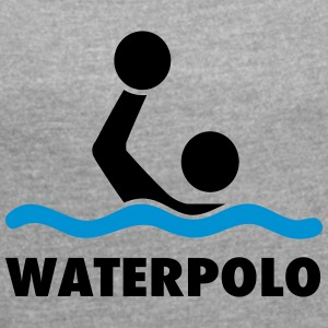 water polo - Women's T-shirt with rolled up sleeves