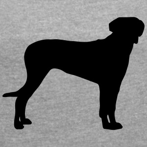 Rhodesian Ridgeback Silhouette - Women's T-shirt with rolled up sleeves