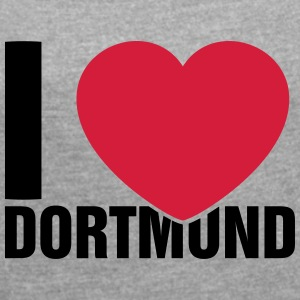 I love Dortmund - Women's T-shirt with rolled up sleeves