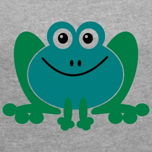 frog - Women's T-shirt with rolled up sleeves