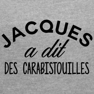 Jacques said CARABISTOUILLES - Women's T-shirt with rolled up sleeves