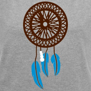 LUCKY INDIAN - Women's T-shirt with rolled up sleeves