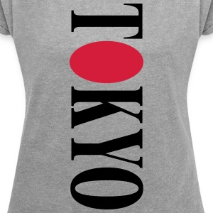 Tokyo logo - Women's T-shirt with rolled up sleeves