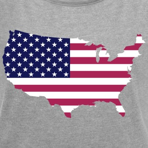 USA - Women's T-shirt with rolled up sleeves