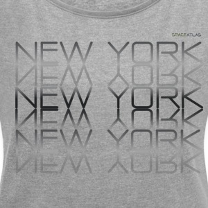 Space Atlas Tee New York New York - Women's T-shirt with rolled up sleeves