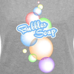 Soap Bubbles - Women's T-shirt with rolled up sleeves