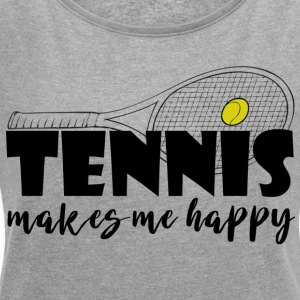 tennis - Women's T-shirt with rolled up sleeves