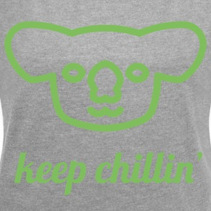 Chillin 'Koala - Women's T-shirt with rolled up sleeves