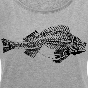 Beautiful perch - Women's T-shirt with rolled up sleeves